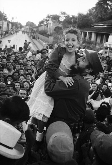CUBA. 1959. On another stop CASTRO lifts a young admirer. Contact email: New York : photography@magnumphotos.com Paris : magnum@magnumphotos.fr London : magnum@magnumphotos.co.uk Tokyo : tokyo@magnumphotos.co.jp Contact phones: New York : +1 212 929 6000 Paris: + 33 1 53 42 50 00 London: + 44 20 7490 1771 Tokyo: + 81 3 3219 0771 Image URL: http://www.magnumphotos.com/Archive/C.aspx?VP3=ViewBox_VPage&IID=2S5RYDZUGC2Q&CT=Image&IT=ZoomImage01_VForm